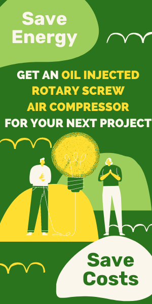 save energy with screw compressors